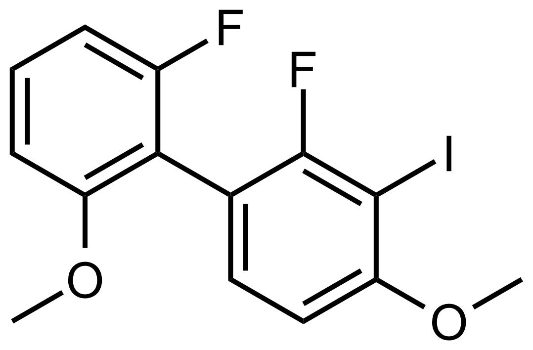 Structure of 2,2'-Difluoro-3-iodo-4,6'-dimethoxy-1,1'-biphenyl