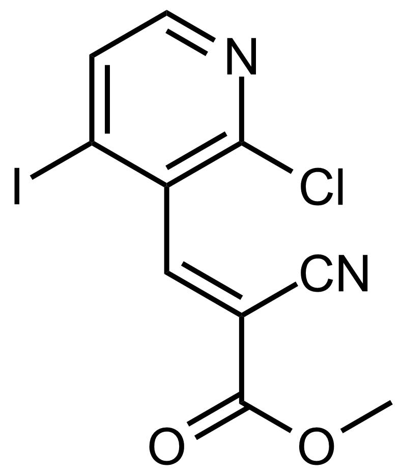 Structure of (E)-Methyl 3-(2-chloro-4-iodopyridin-3-yl)-2-cyanoacrylate