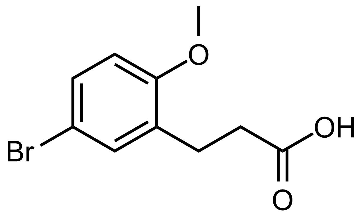 Structure of 3-(5-Bromo-2-methoxyphenyl)propanoic acid