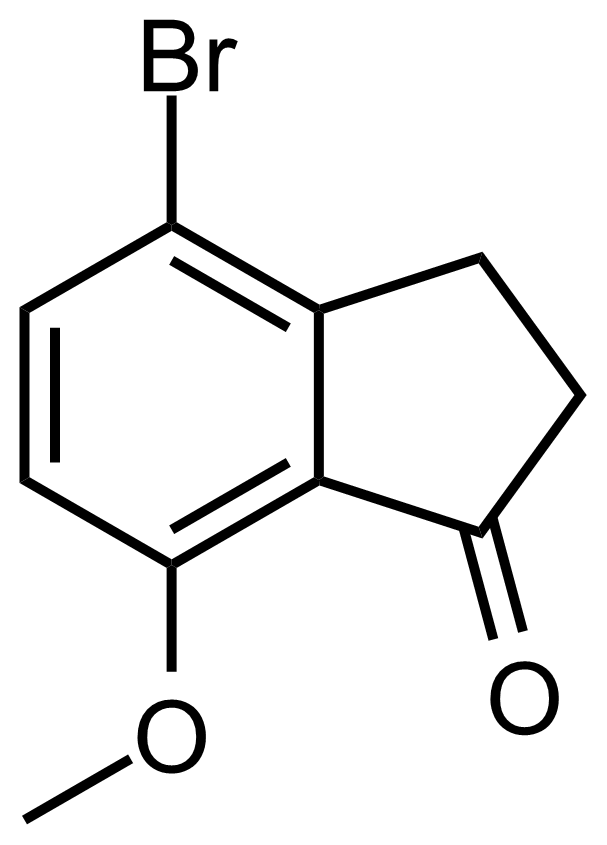 Structure of 4-Bromo-7-methoxy-2,3-dihydro-1H-inden-1-one
