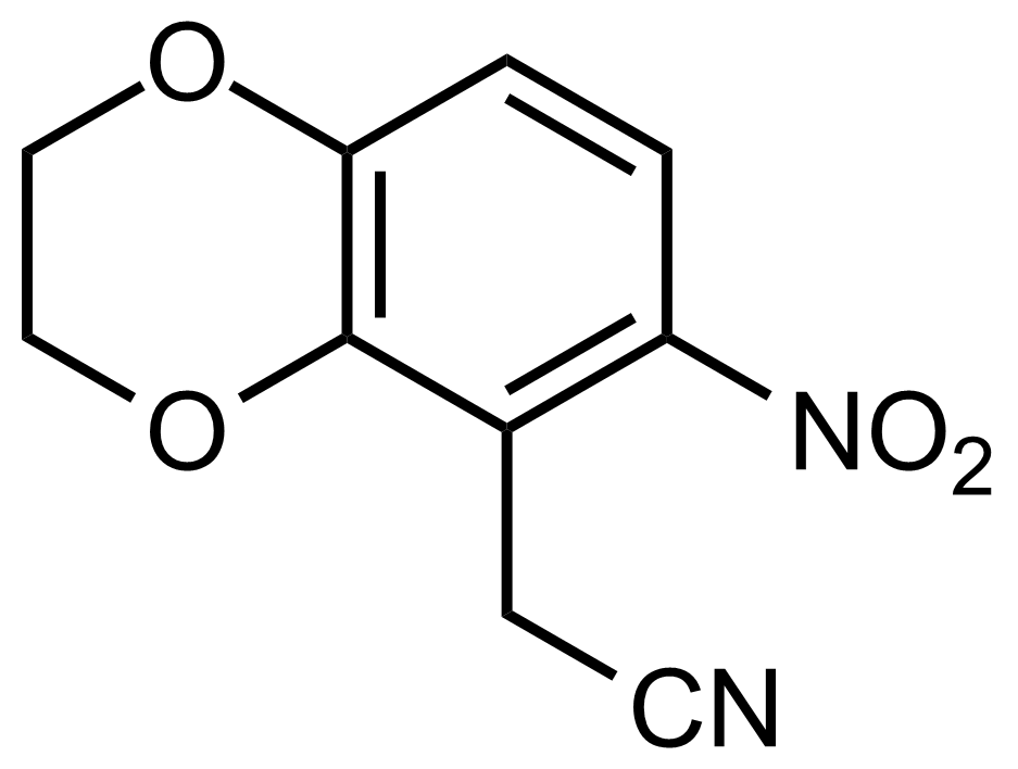 Structure of 2-(6-Nitro-2,3-dihydrobenzo[b][1,4]dioxin-5-yl)acetonitrile