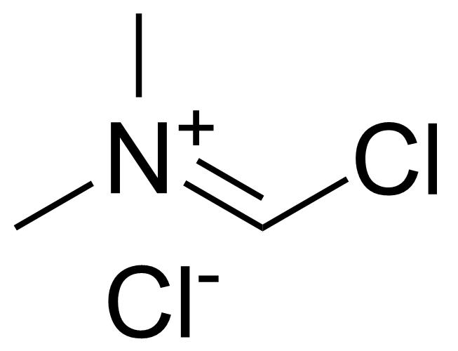 Structure of (Chloromethylene)dimethylammonium chloride