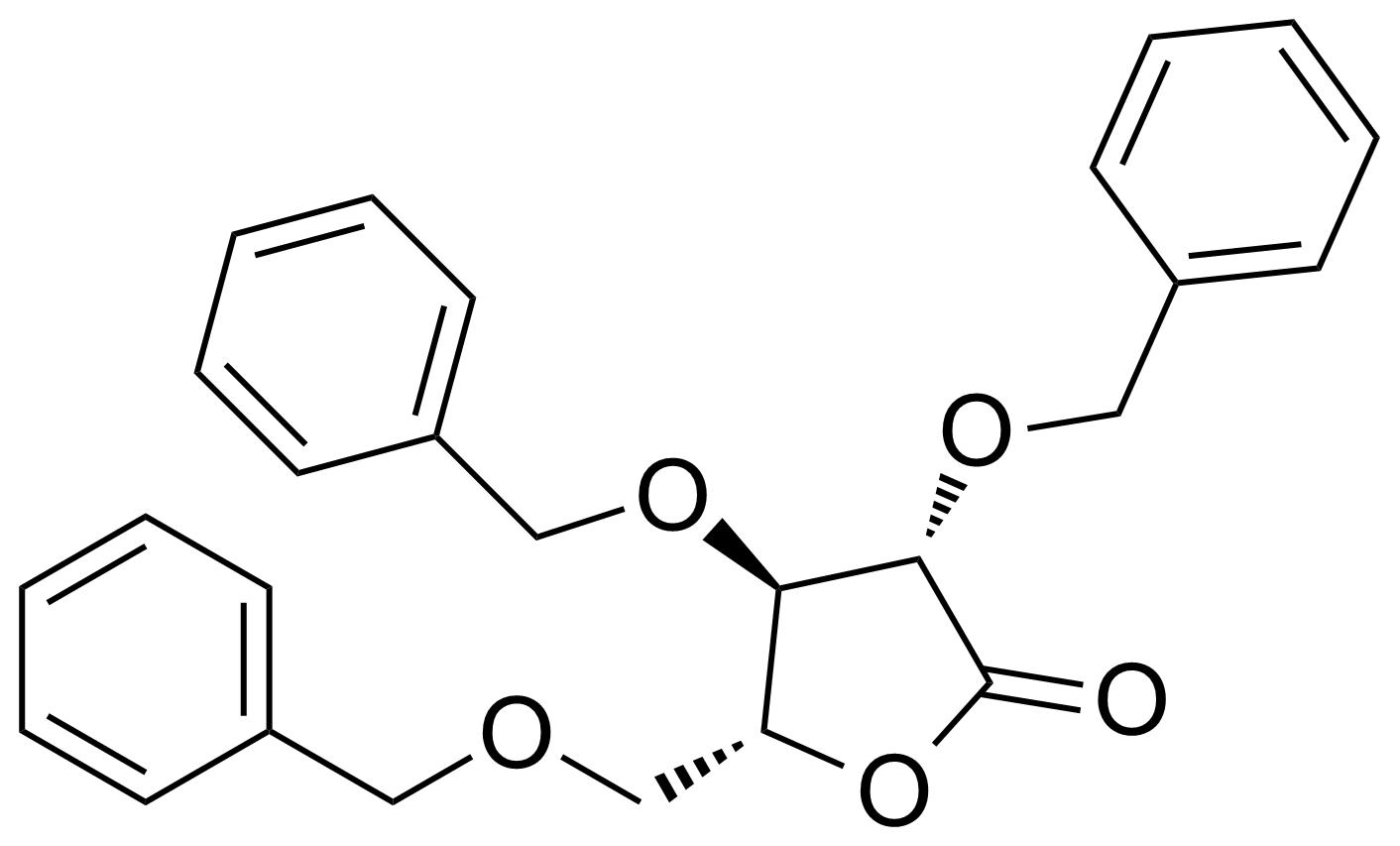 Structure of 2,3,5-Tri-o-benzyl-d-arabino-1,4-lactone