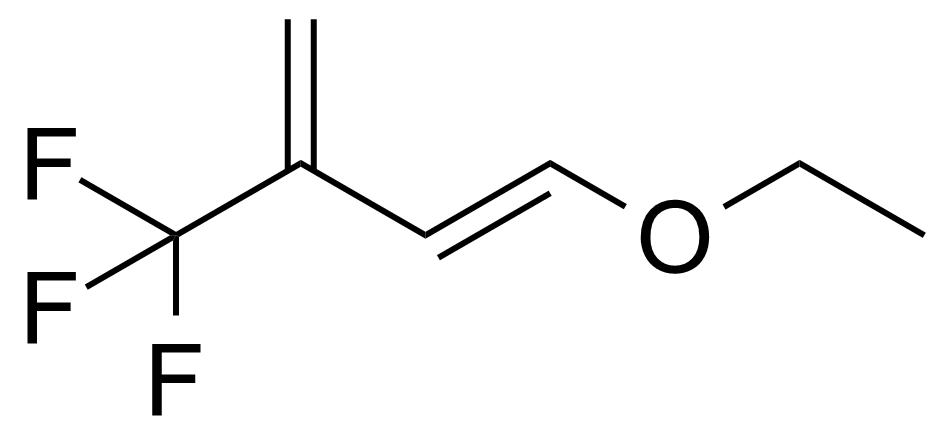 Structure of 1-Ethoxy-3-trifluoromethyl-1,3-butadiene